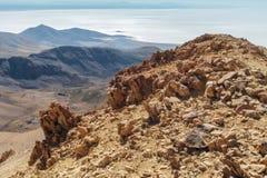 Berg vulkanisch landschap stock foto's