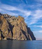 Berg vulkaniskt landskap Arkivfoto