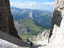 Berg-Wandern im Sellagoup lizenzfreie stockfotos