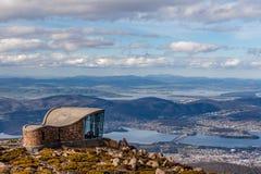 Berg-Wellington-Ausblickstruktur, Tasmanien lizenzfreies stockbild