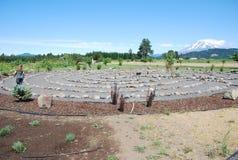 Berg Zen Buddhist Maze Royalty-vrije Stock Afbeelding