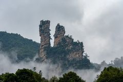 Berg in Zhangjiajie stock foto