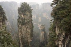 Berg in Zhangjiajie Stockbilder