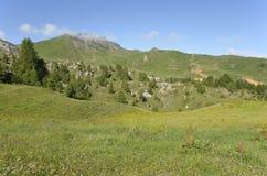 Berg zum La Plagne in Frankreich Lizenzfreie Stockbilder