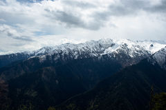 Berg Zuruldi nära Mestija, Georgia Arkivbild