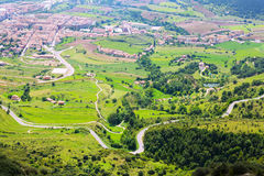 Berga area from mount in summer. Pyrenees Royalty Free Stock Photo
