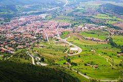 Berga teren od góry w Pyrenees Obrazy Stock