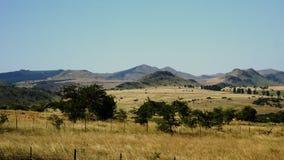 Bergachtig landschap in Swasiland Stock Foto