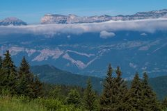 Bergachtig van chartreuse, isere, Frankrijk Stock Afbeelding