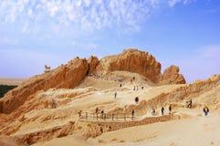 Bergachtige oase in de Sahara, Chebika stock foto's