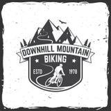 Bergaf berg het biking Vector illustratie royalty-vrije illustratie