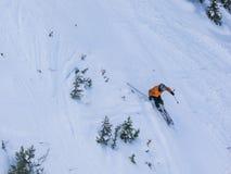 Bergaf Skiër stock fotografie