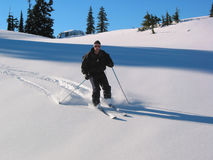 Bergaf Skiër Royalty-vrije Stock Afbeelding