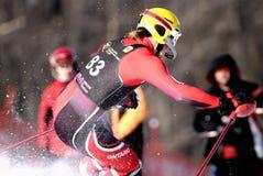 Bergaf ski?end Royalty-vrije Stock Foto's