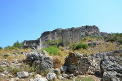 Bergama kingdom due to Silyon ancient city, located in Antalya Royalty Free Stock Photos