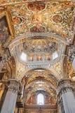Bergame, Italie - 18 août 2017 : Di Santa Maria Maggiore, intérieur fleuri de basilique du ` s de Bergame d'or Photographie stock