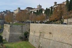 Bergame - murs de ville Photo libre de droits