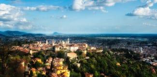 Bergamo Alta (alto) Fotografia Stock Libera da Diritti
