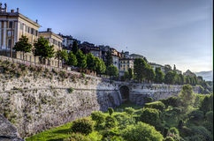 Bergamo Alta, Włochy Zdjęcia Stock