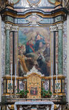 Bergamo - altare laterale nella chiesa San Alessandro della Croce Immagini Stock Libere da Diritti