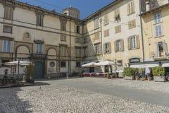 Bergamo-alte Stadt Stockfoto