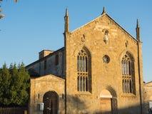 Bergamo - alte Stadt Das alte Kloster von Universität Heilig-Agostino heute von Bergamo lizenzfreie stockfotos