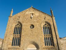 Bergamo - alte Stadt Das alte Kloster von Universität Heilig-Agostino heute von Bergamo lizenzfreies stockbild