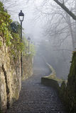 Bergamo - ascent to upper town in winter Stock Photography
