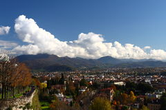 Bergamo in autumn Stock Photos