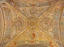 Bergamo - Ceiling of side nave from cathedral Royalty Free Stock Photos
