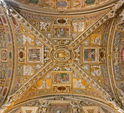 Bergamo - Ceiling of side nave from cathedral Santa Maria Maggiore Royalty Free Stock Image
