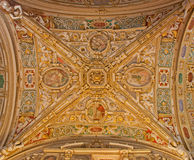 Bergamo - Ceiling of side nave from cathedral Santa Maria Maggiore Stock Images