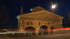 Bergamo, a cidade velha Uma da cidade bonita em Itália lombardy Ajardine na porta velha nomeada porta de San Giacomo durante o e Foto de Stock