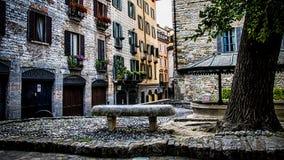 Bergamo, Cita Alta (città superiore) Fotografia Stock