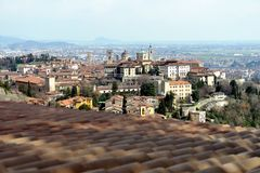 Bergamo, Città Alta, Italy, on a sunny afternoon Royalty Free Stock Photo