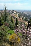 Bergamo, Città Alta, Italy, on a sunny afternoon Royalty Free Stock Photos