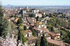 Bergamo, Citt Alta, Lombardia, Italia Fotografia Stock Libera da Diritti
