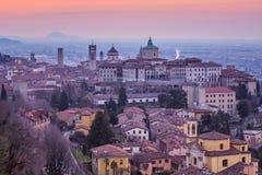 Bergamo Citt? Vecchia storico, Lombardia, Italia immagini stock