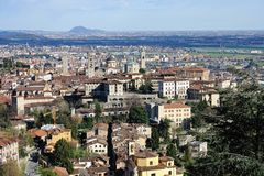 Bergamo, Citta Alta, Lombardy, Italy Royalty Free Stock Photo