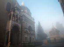 Bergamo - Colleoni chapel and cathedral Santa Maria Maggiore in Stock Image