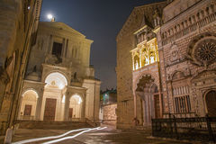 Bergamo - Colleoni chapel and cathedral Santa Maria Maggiore and Dom Stock Photography