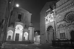 Bergamo - Colleoni chapel and cathedral Santa Maria Maggiore and Dom Royalty Free Stock Image