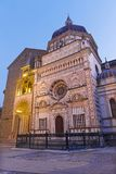 Bergamo - Colleoni chapel by cathedral Santa Maria Maggiore in upper town at dusk royalty free stock images
