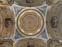 Bergamo - Cupola of Dom. On January 26, 2013 in Bergamo, Italy stock image