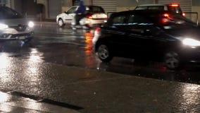 Bergamo De auto's van het regeneind stock footage