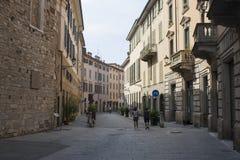 Bergamo, eins der schönen Stadt in Italien Der alte Bezirk nannte Pignolo in der unteren Stadt Lizenzfreie Stockbilder