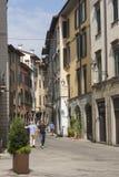 Bergamo, eins der schönen Stadt in Italien Der alte Bezirk nannte Pignolo in der unteren Stadt Stockfoto