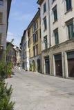 Bergamo, eins der schönen Stadt in Italien Der alte Bezirk nannte Pignolo in der unteren Stadt Lizenzfreie Stockfotos