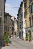 Bergamo, eins der schönen Stadt in Italien Der alte Bezirk nannte Pignolo in der unteren Stadt Stockbild