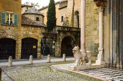 Bergamo, entrata della cattedrale Immagine Stock Libera da Diritti